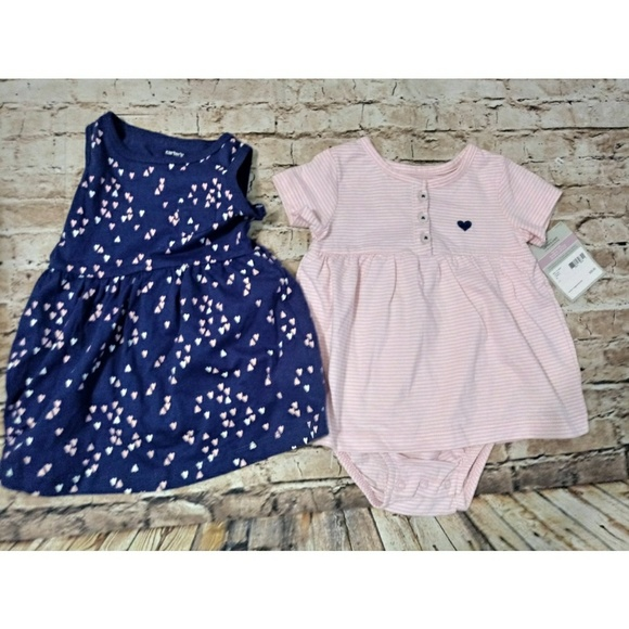 NWT Carter's Set of 2 Outfits for Baby Girl 9 mos NWT